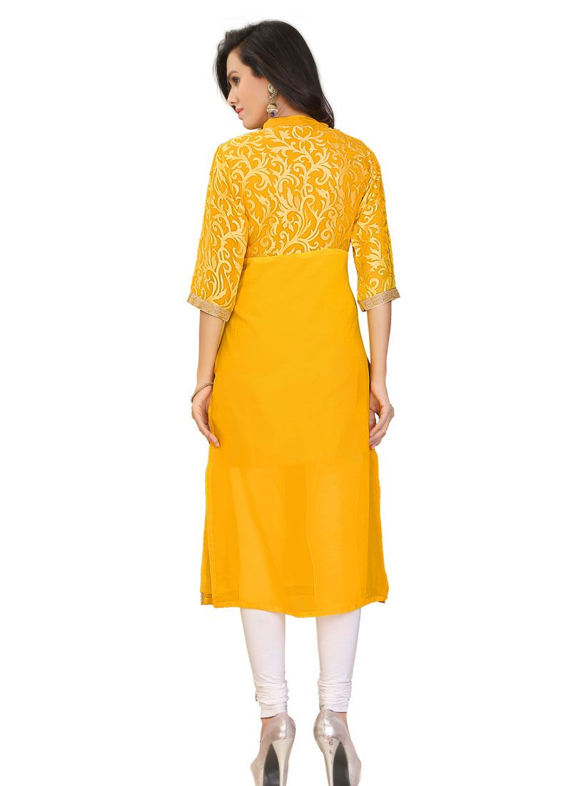 what to wear with yellow kurti
