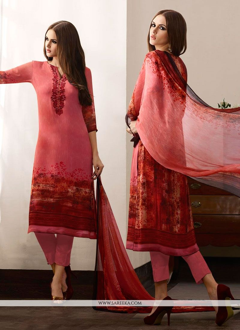 Multi Colour Designer Straight Salwar Suit