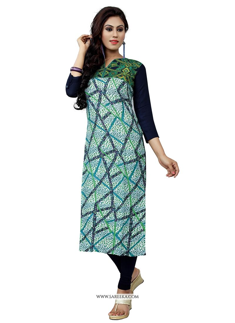 Embroidered Work Cotton   Party Wear Kurti