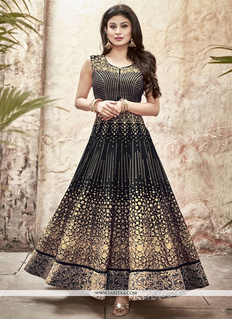 Black Georgette Anarkali Salwar Kameez