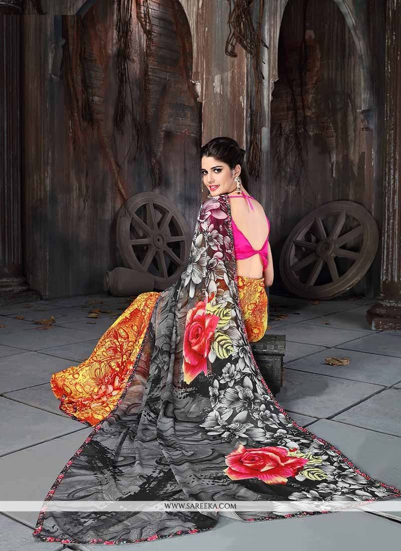 Georgette Multi Colour Casual Saree