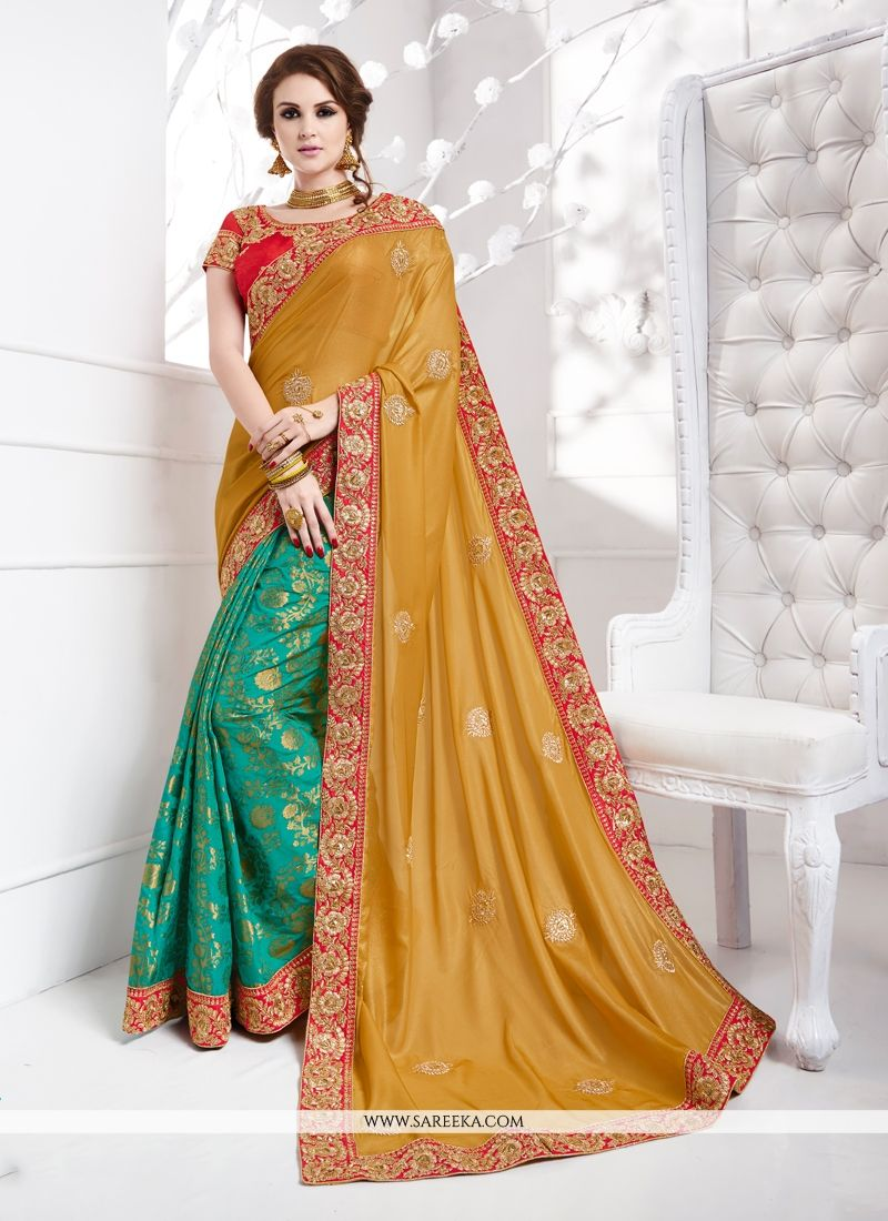 fe5ab4b95264a Buy Jacquard Silk Green Traditional Designer Sarees Online   New Zealand -