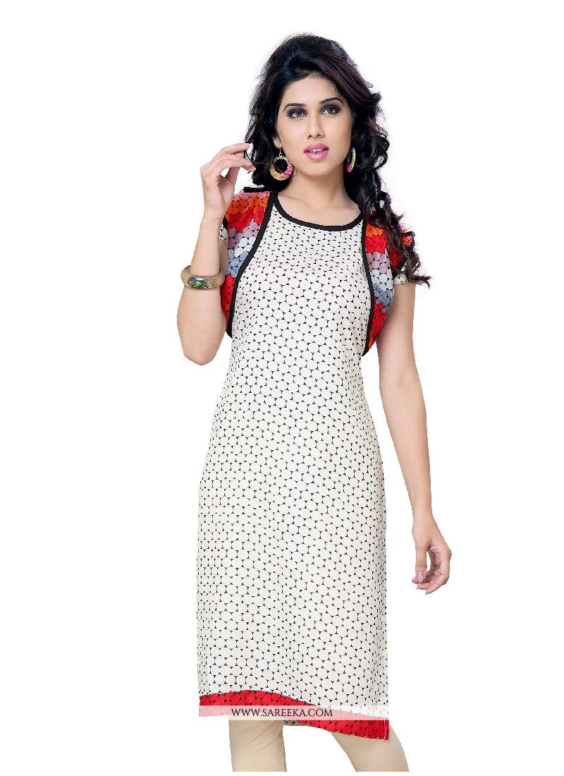 Print Work Georgette Casual Kurti