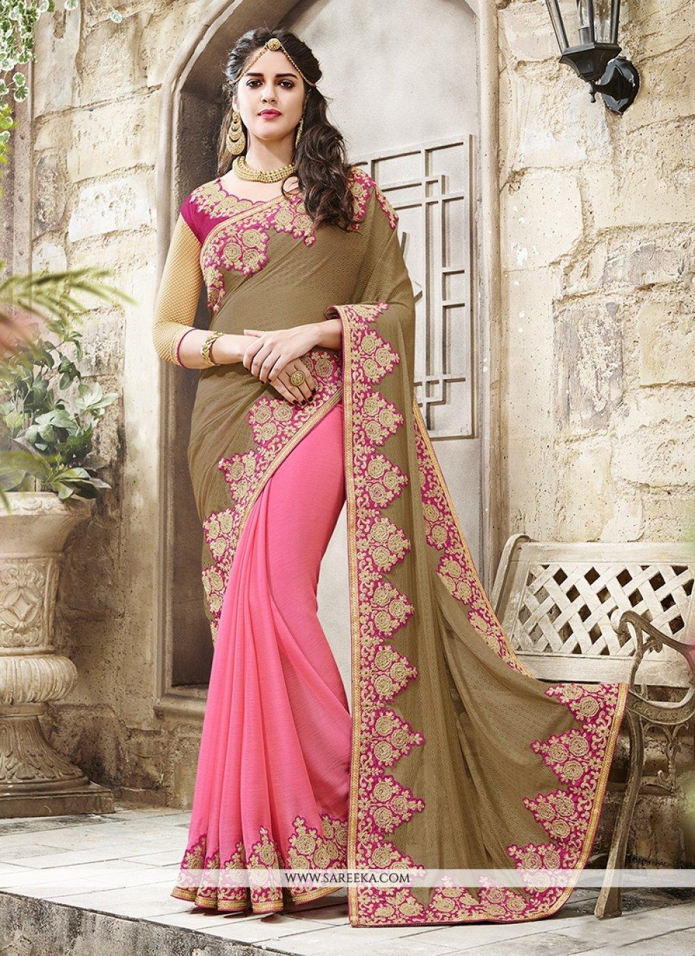 Pink Designer Traditional Sarees