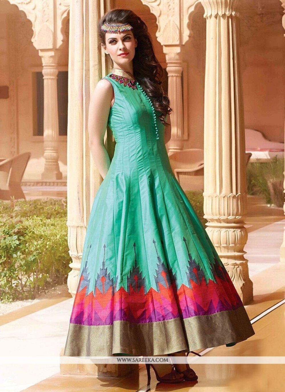 Art Silk Designer Gown