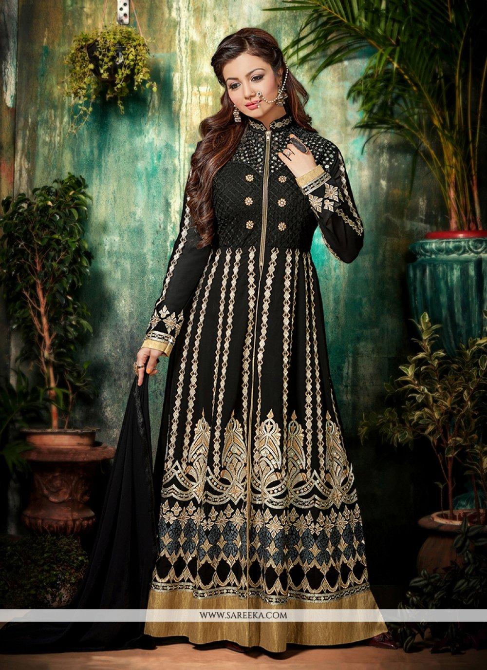Ayesha Takia Black Anarkali Salwar Kameez
