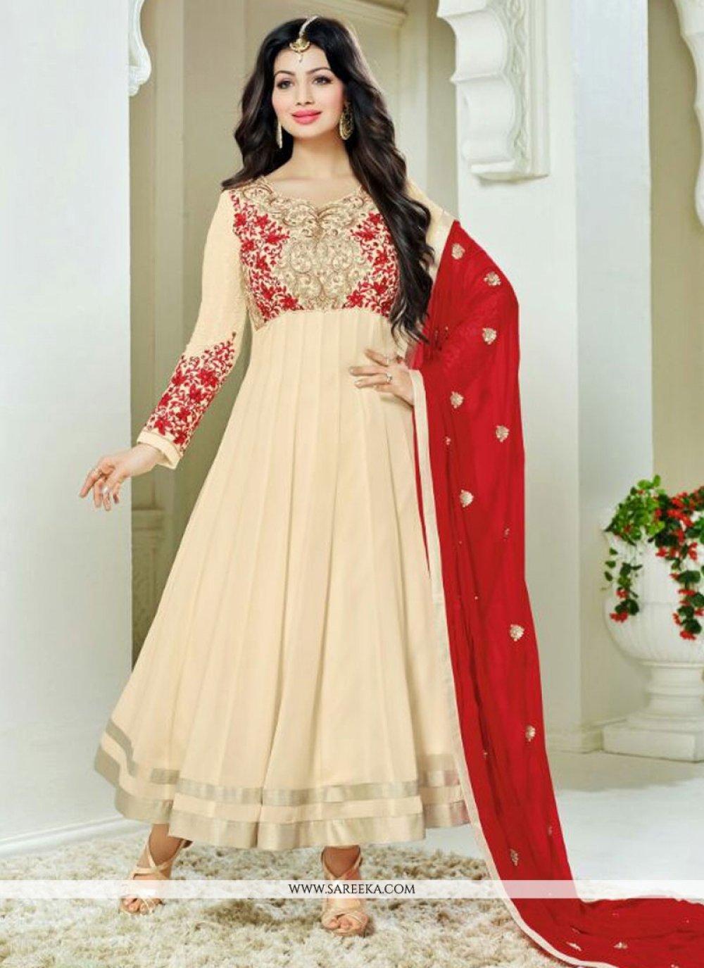 Ayesha Takia Cream Anarkali Salwar Kameez