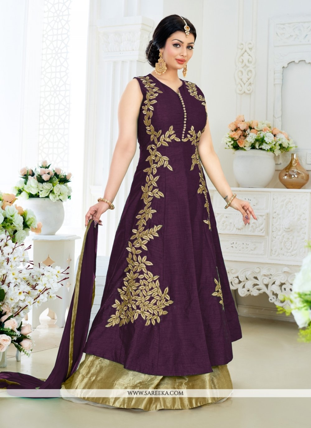 Ayesha Takia Embroidered Work Designer Floor Length Salwar Suit