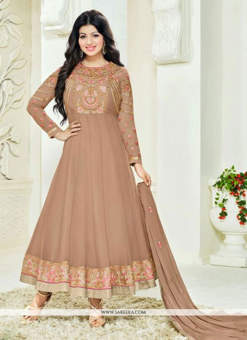 Ayesha Takia Embroidered Work Georgette Anarkali Salwar Kameez