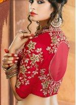 Jacquard Silk Embroidered Work A Line Lehenga Choli