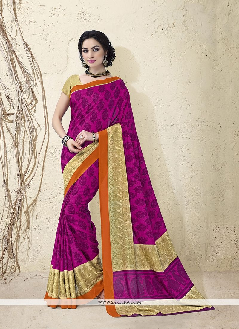 Beguiling Magenta Casual Saree