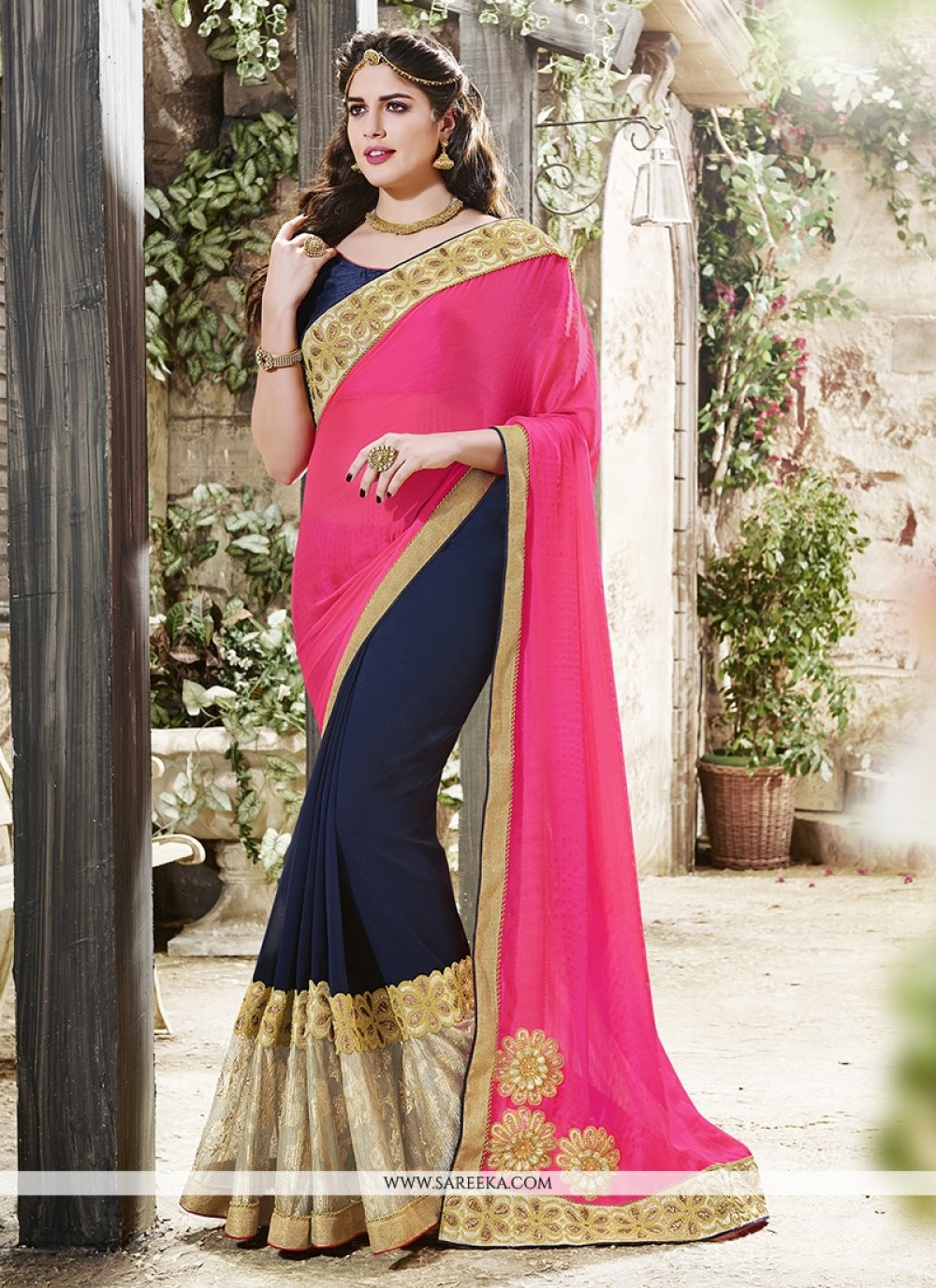 Georgette Designer Traditional Sarees