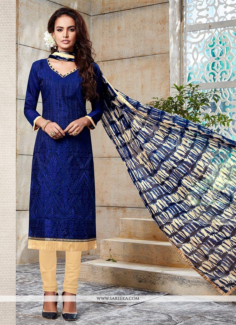 Blue Churidar Designer Suit