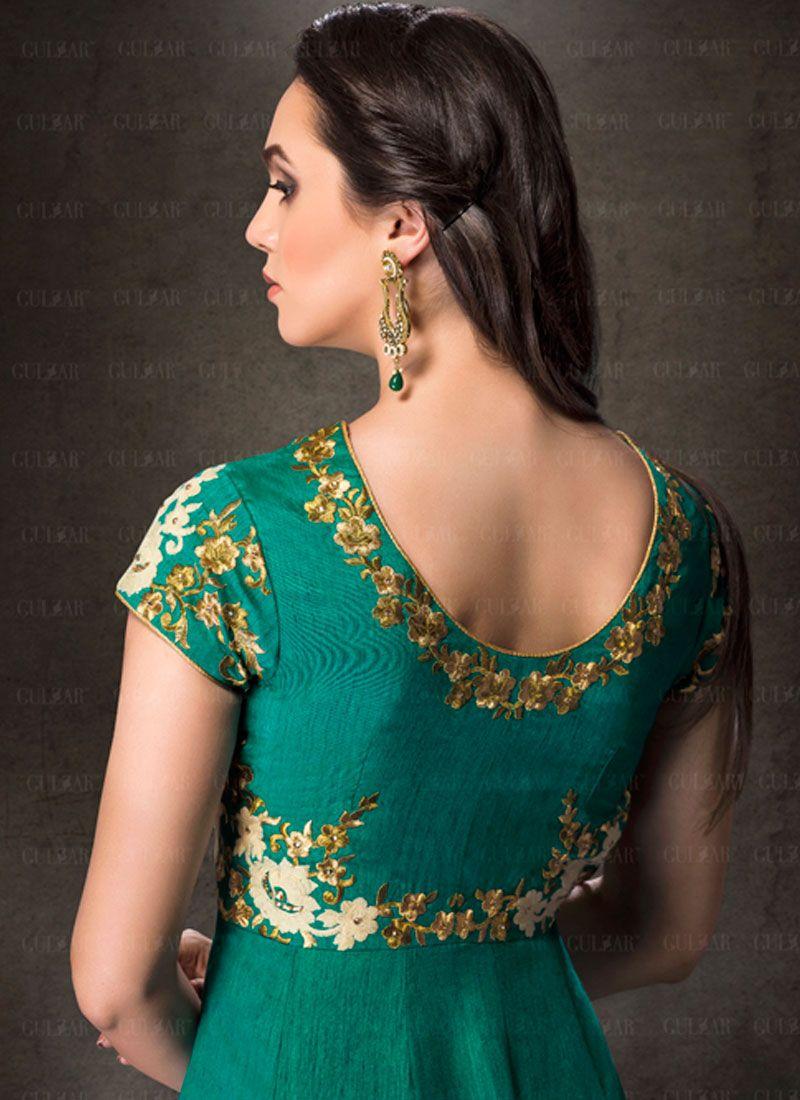 e7a0e3dd4 Silk Embroidered Work Designer Salwar Suit Silk Embroidered Work Designer  Salwar Suit