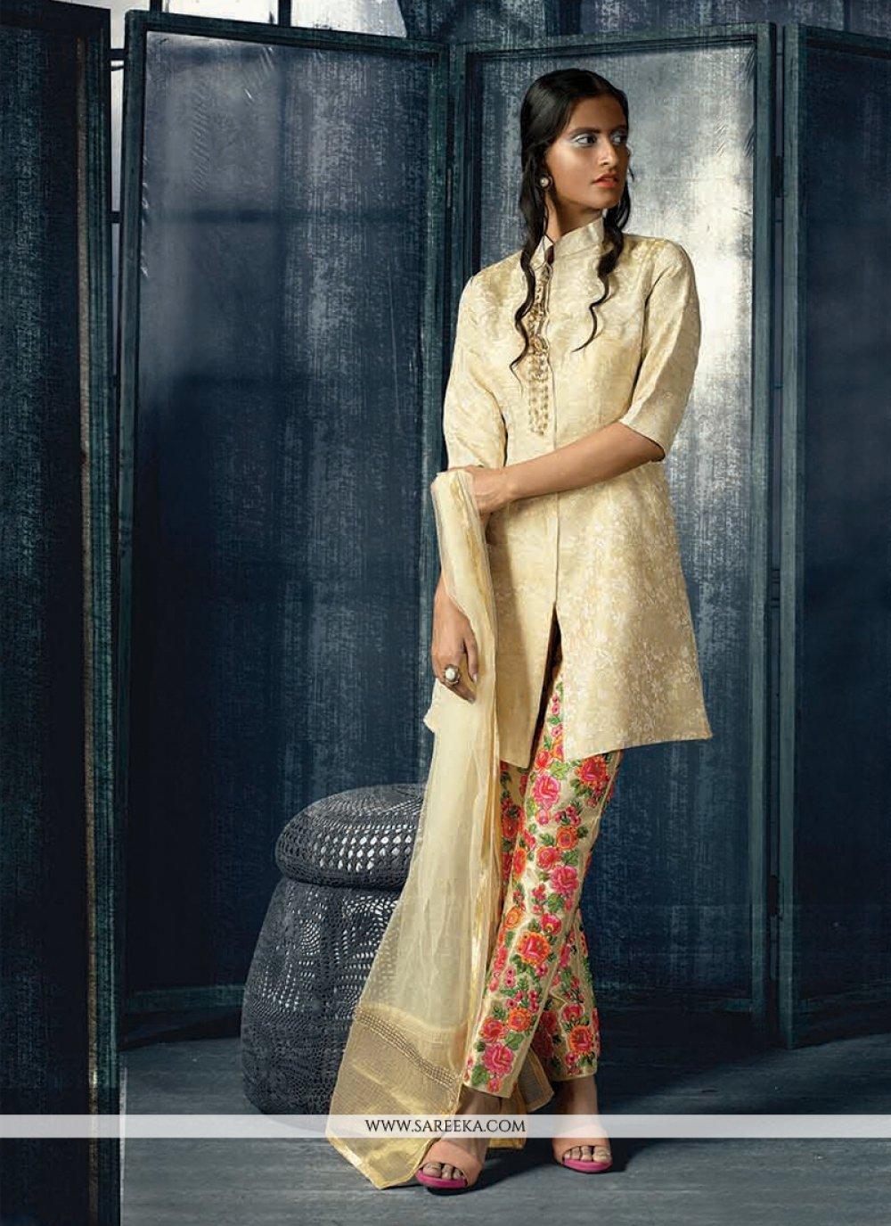 Cream Designer Suit