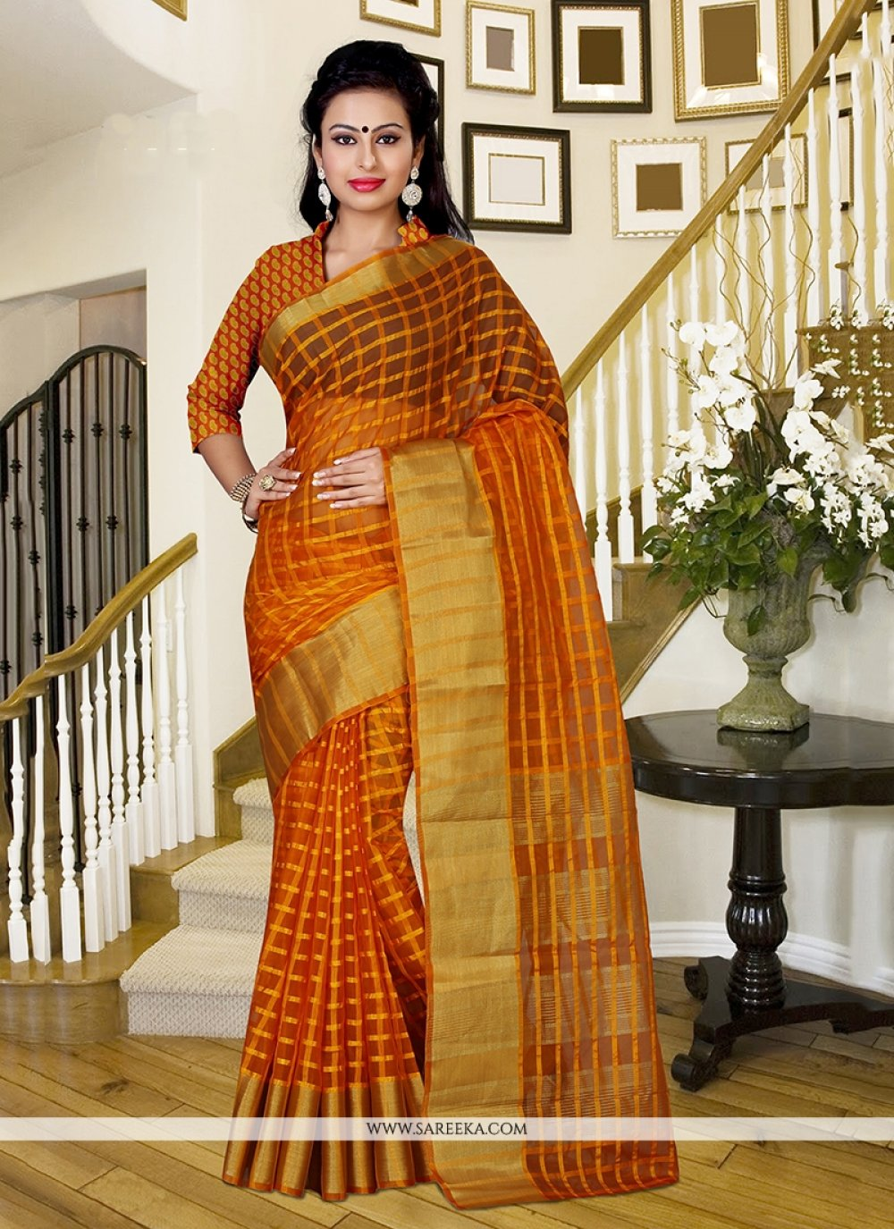 Patch Border Work Silk Classic Saree
