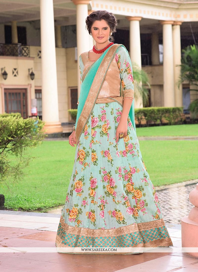 Bhagalpuri Silk Multi Colour A Line Lehenga Choli
