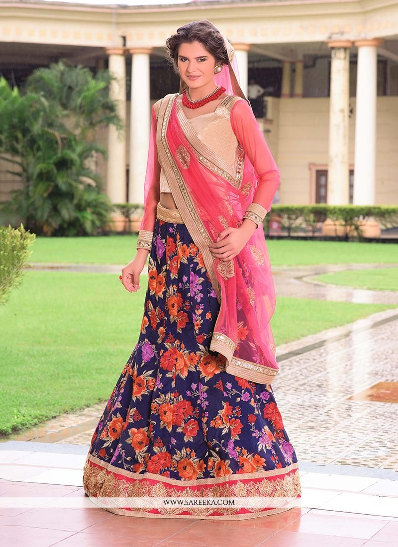 Brocade Patch Border Work A Line Lehenga Choli