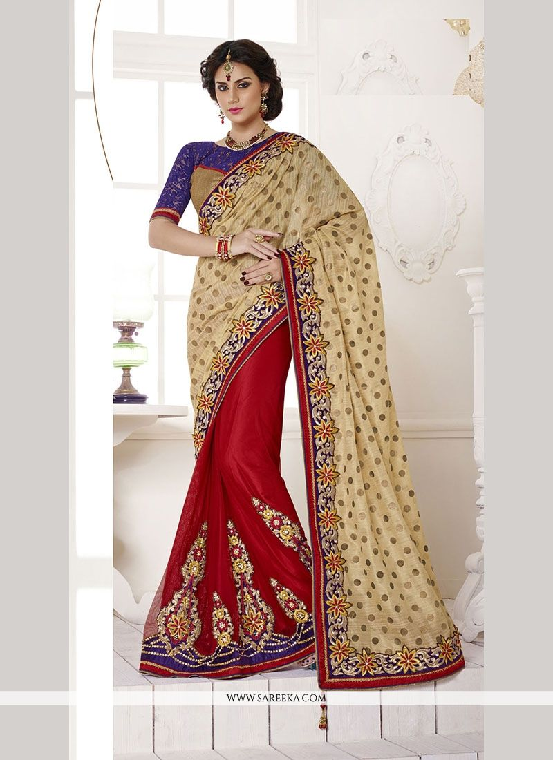 Art Silk Embroidered Work Classic Designer Saree