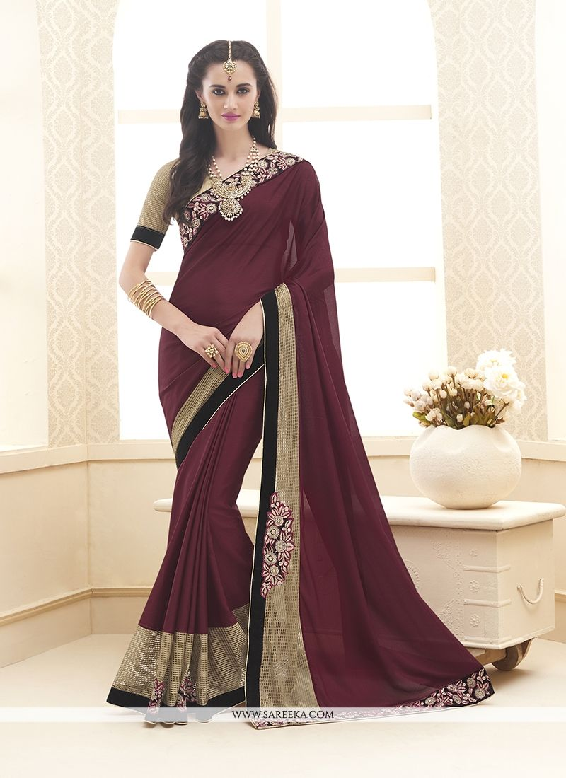 Embroidered Work Designer Saree