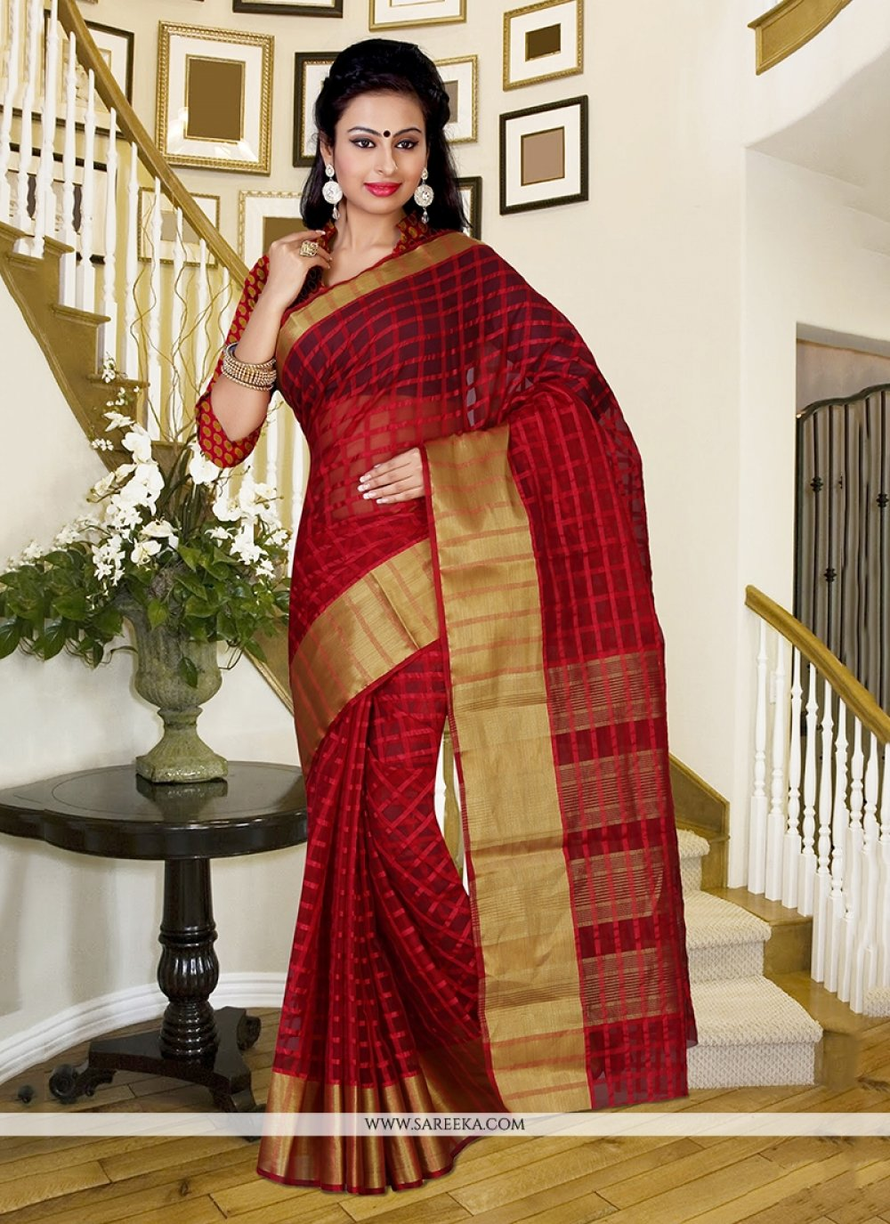Patch Border Work Classic Saree