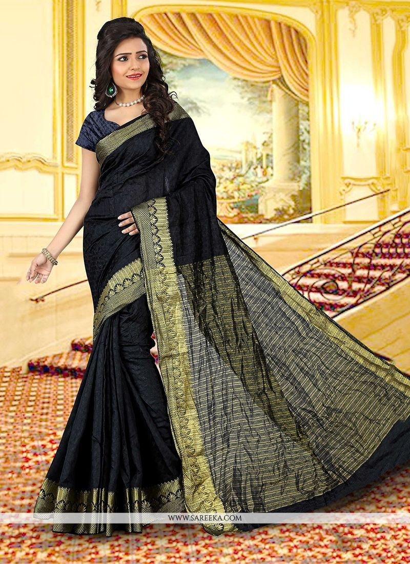 Cotton   Black Casual Saree