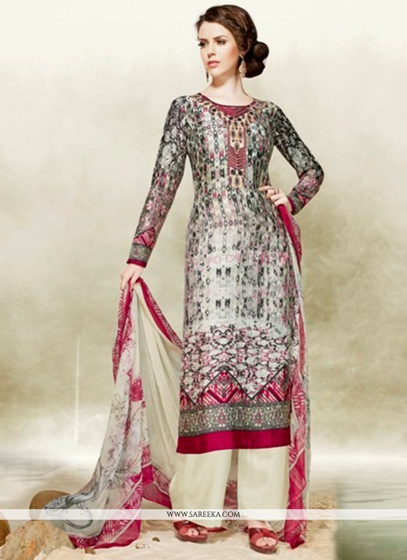 75830a15b5d Buy Embroidered Work Multi Colour Designer Palazzo Salwar Kameez Online :  Malaysia -