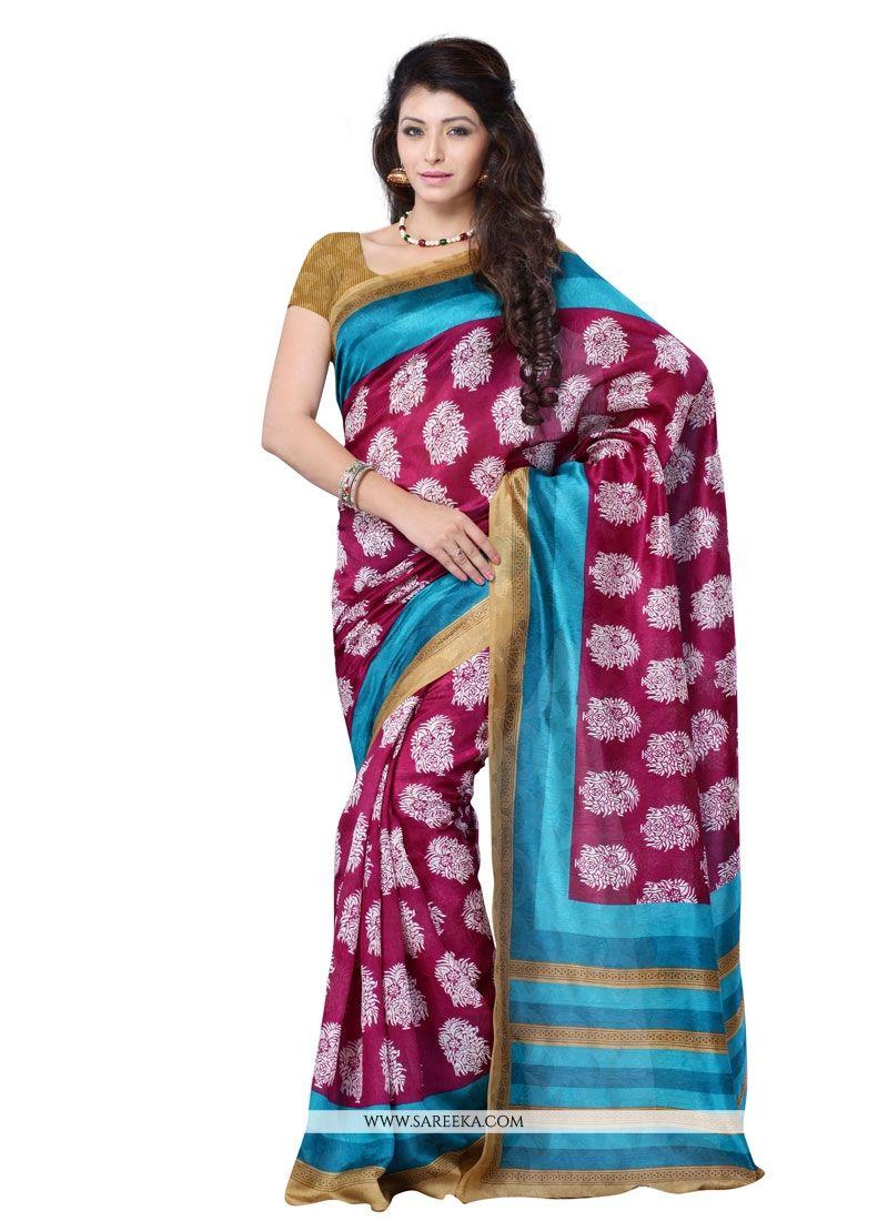 Multi Colour Jacquard Casual Saree