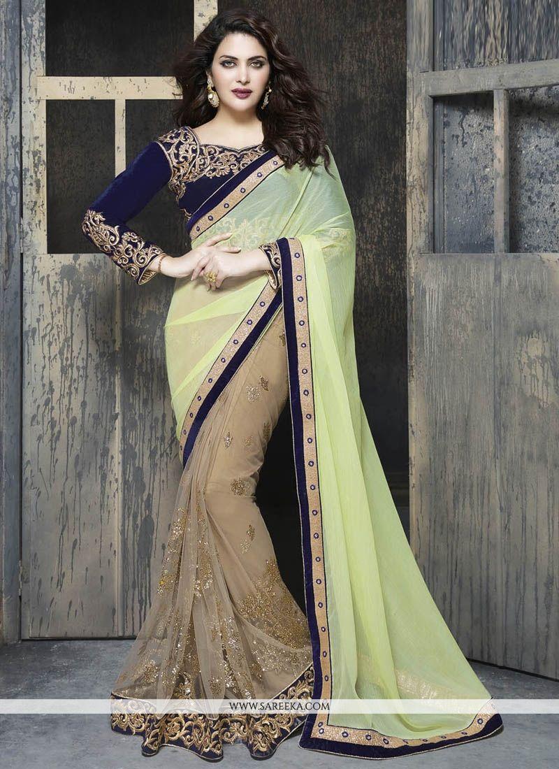 Beige Classic Designer Saree