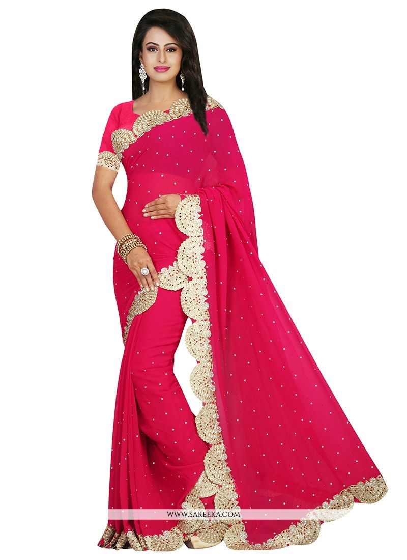 6ce1fa1b738 Buy Patch Border Work Traditional Designer Sarees Online at lowest price -