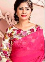 Pink Weight Less Printed Saree