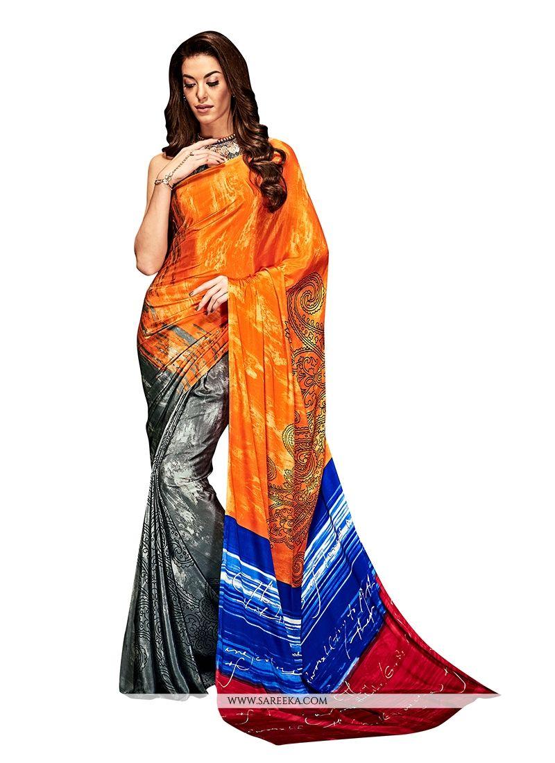 Crepe Silk Multi Colour Casual Saree