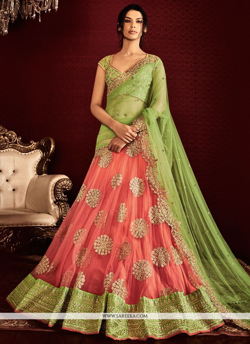 ed036fbe75c33 Buy Embroidered Work A Line Lehenga Saree Online   Indian Ethnic Wear -