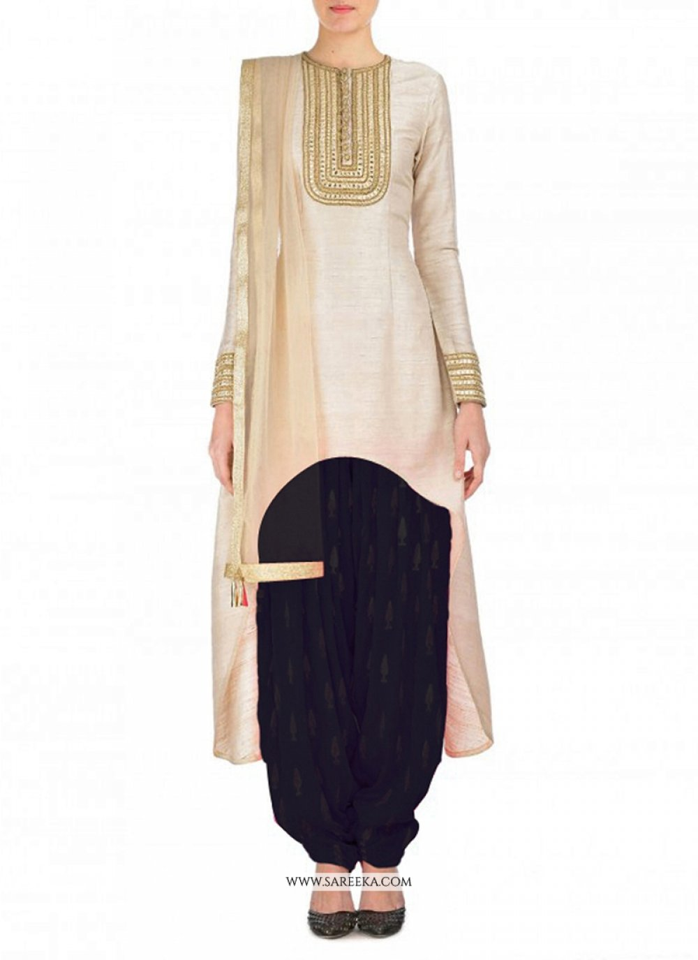 Embroidered Work Georgette Punjabi Suit
