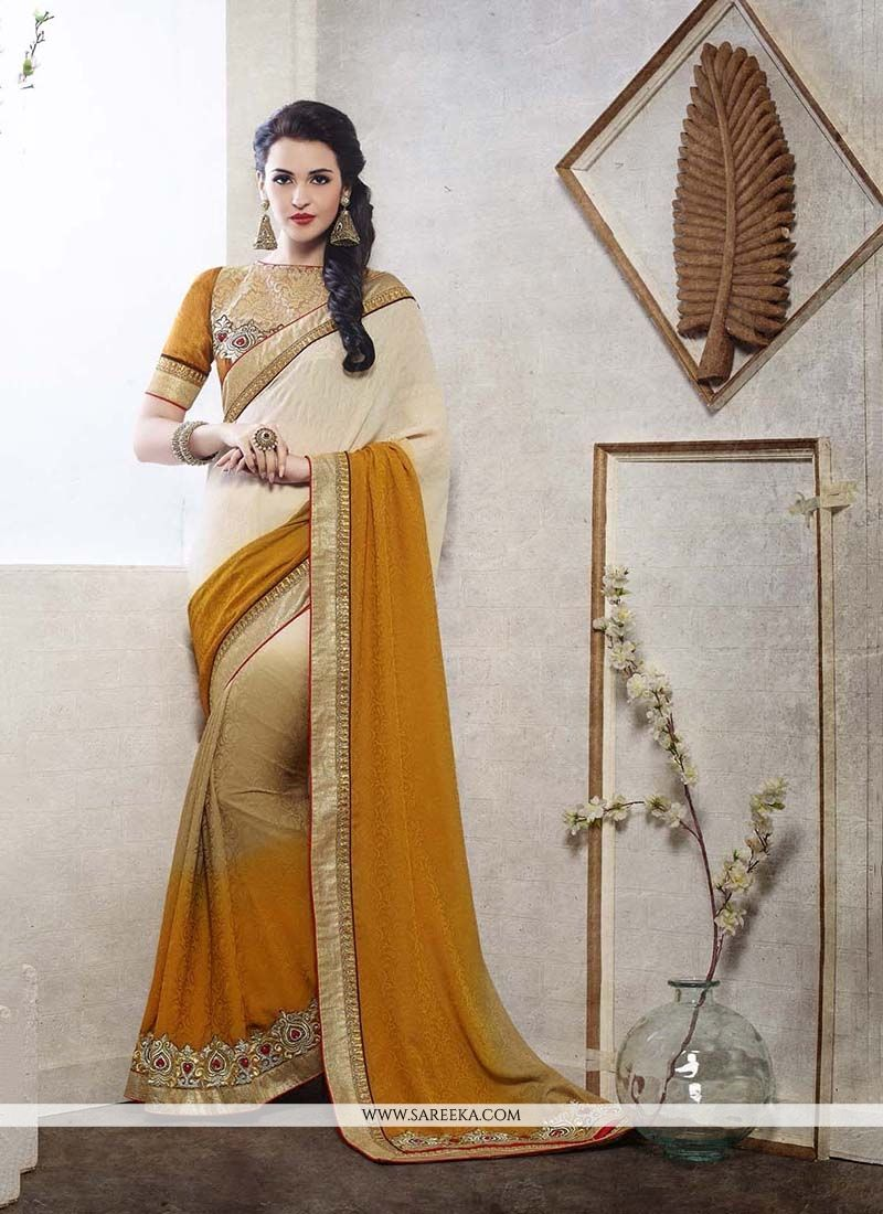 Jacquard Patch Border Work Designer Saree