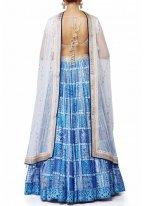 Print Work Raw Silk Designer Replica Lehenga Choli