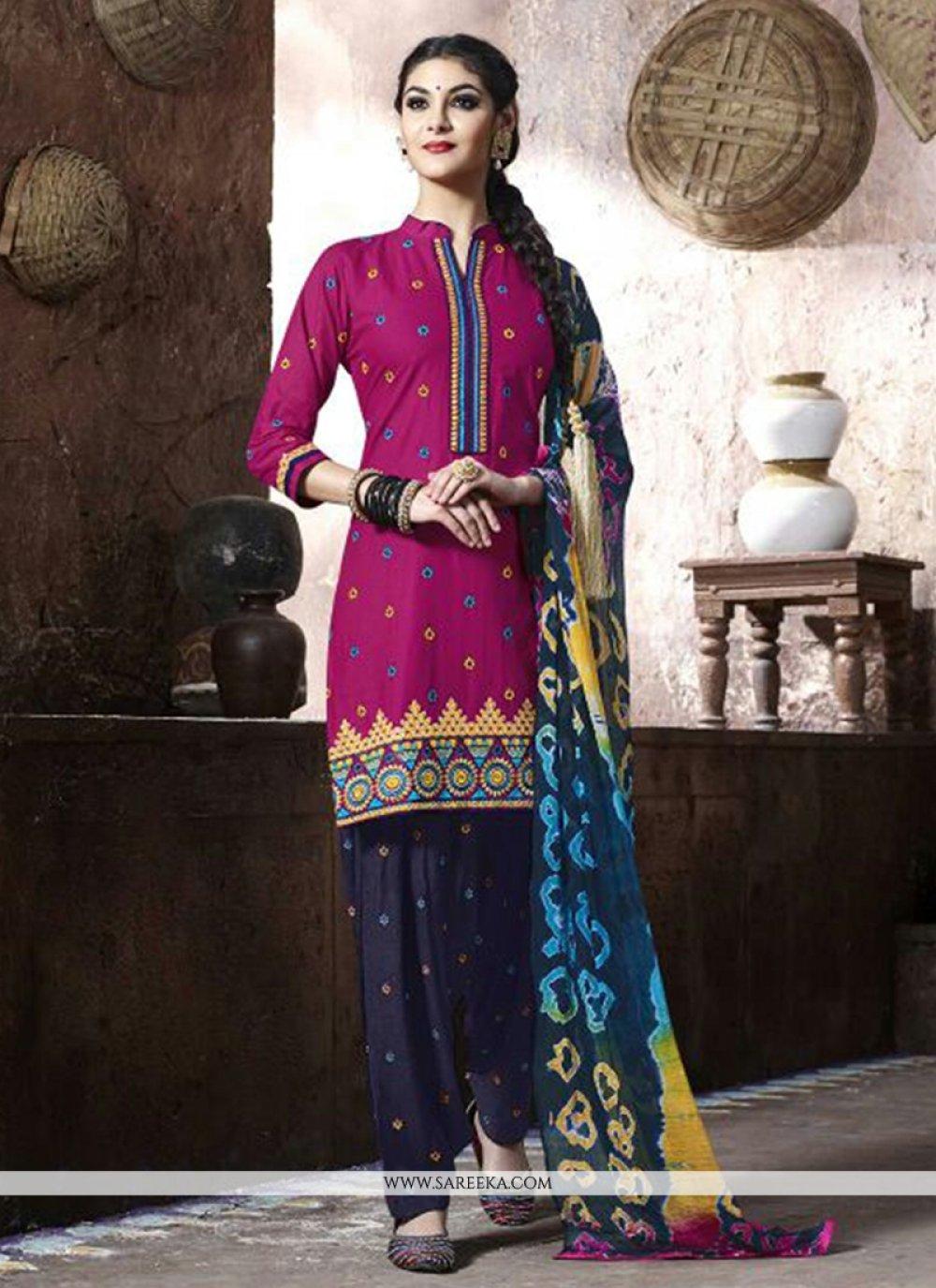 Magenta Punjabi Suit