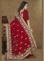 Red Designer Traditional Sarees