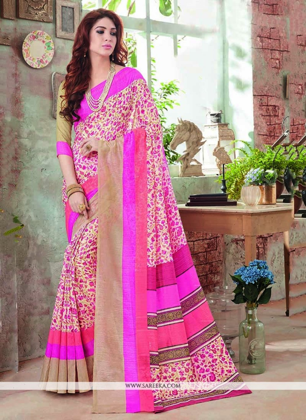 Art Silk Multi Colour Casual Saree