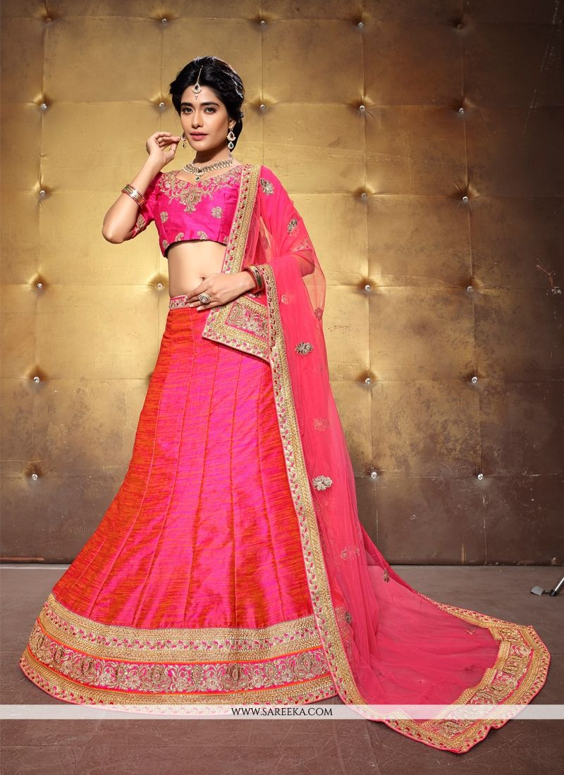 Banglori Silk Patch Border Work A Line Lehenga Choli