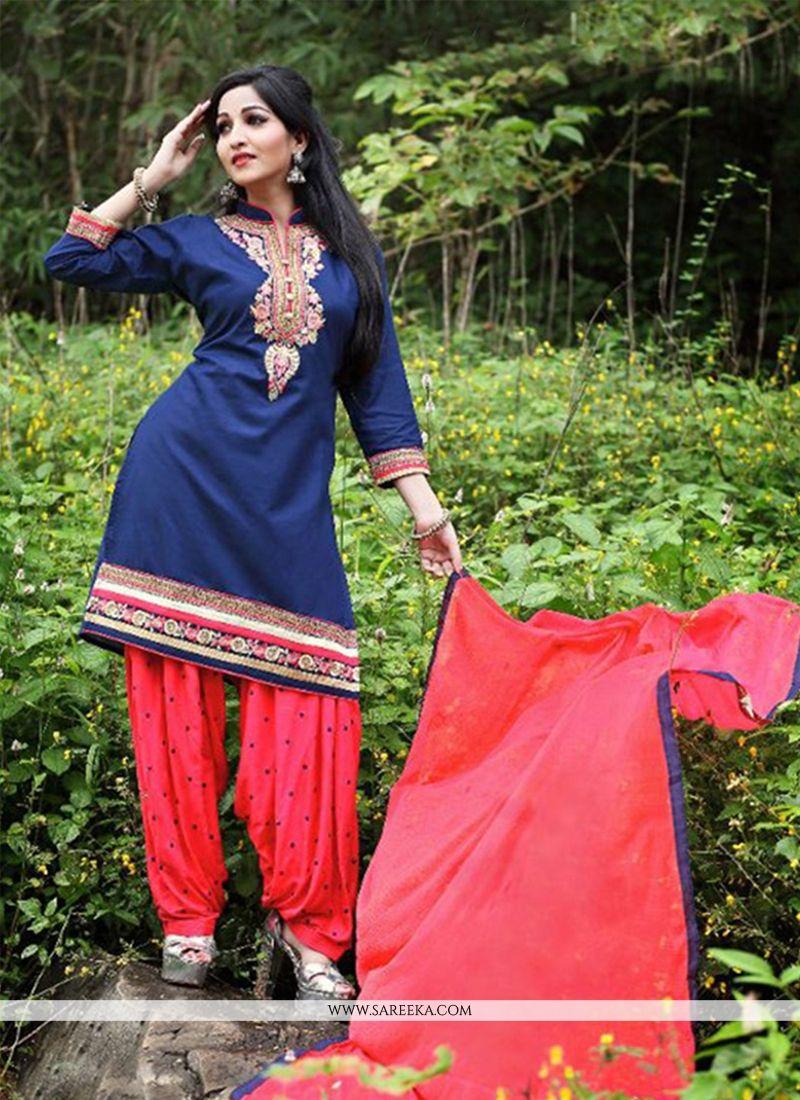 Embroidered Work Punjabi Suit