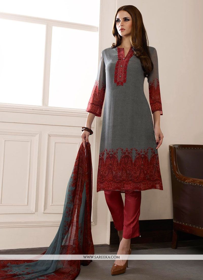 Multi Colour Designer Straight Suit