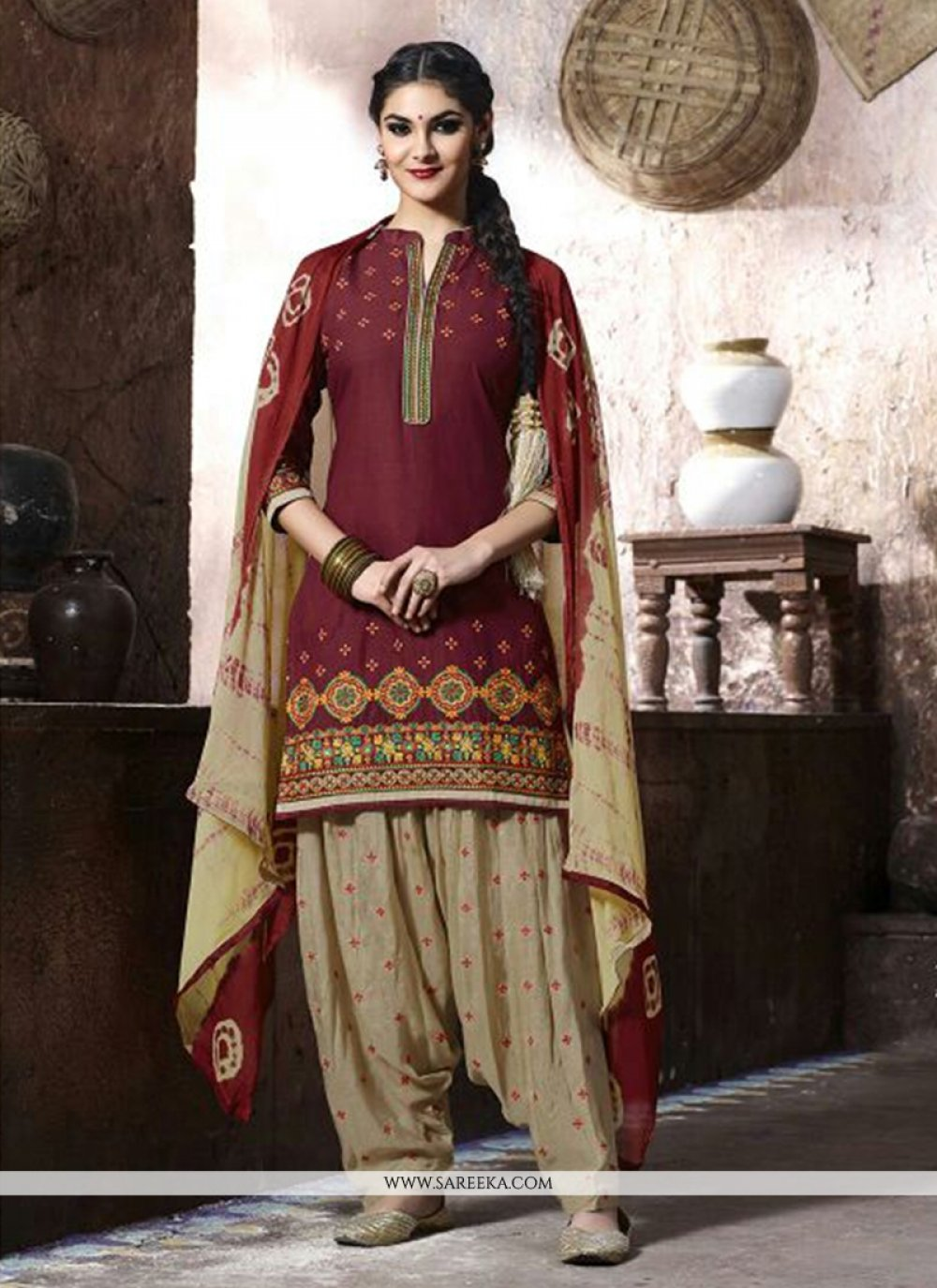 Embroidered Work Punjabi Suit