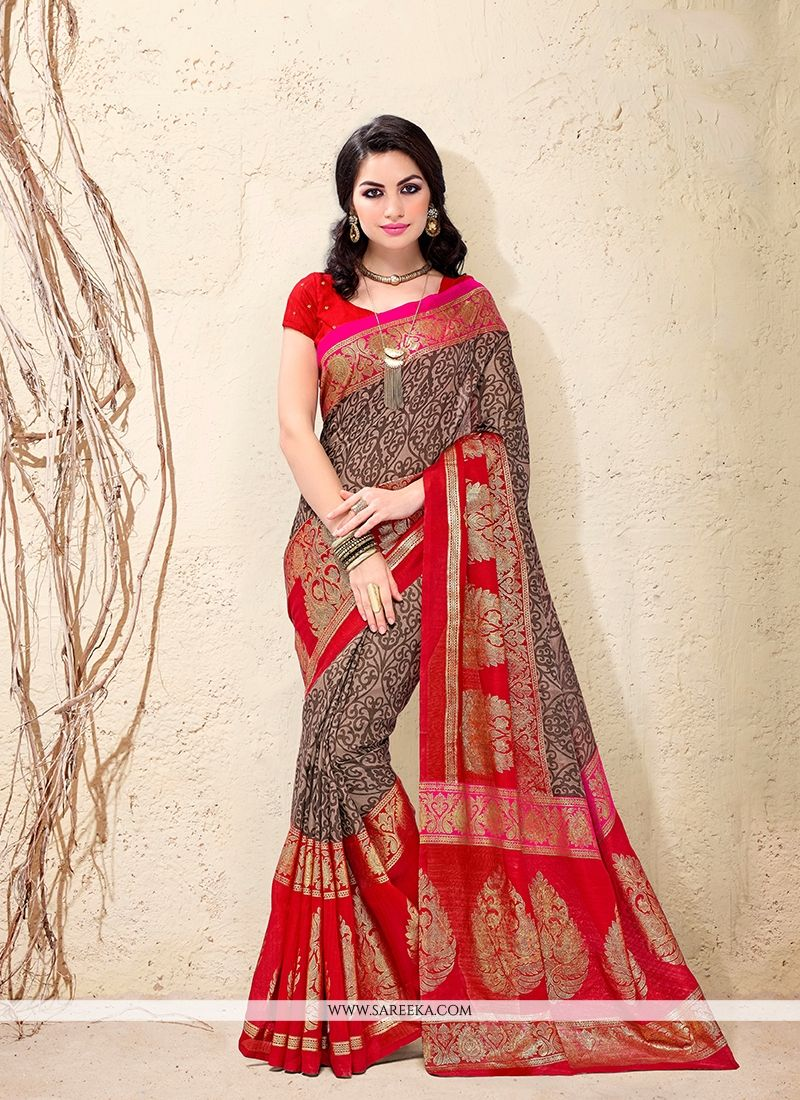 Cotton Silk Patch Border Work Casual Saree