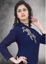 Weight Less Embroidered Work Party Wear Kurti