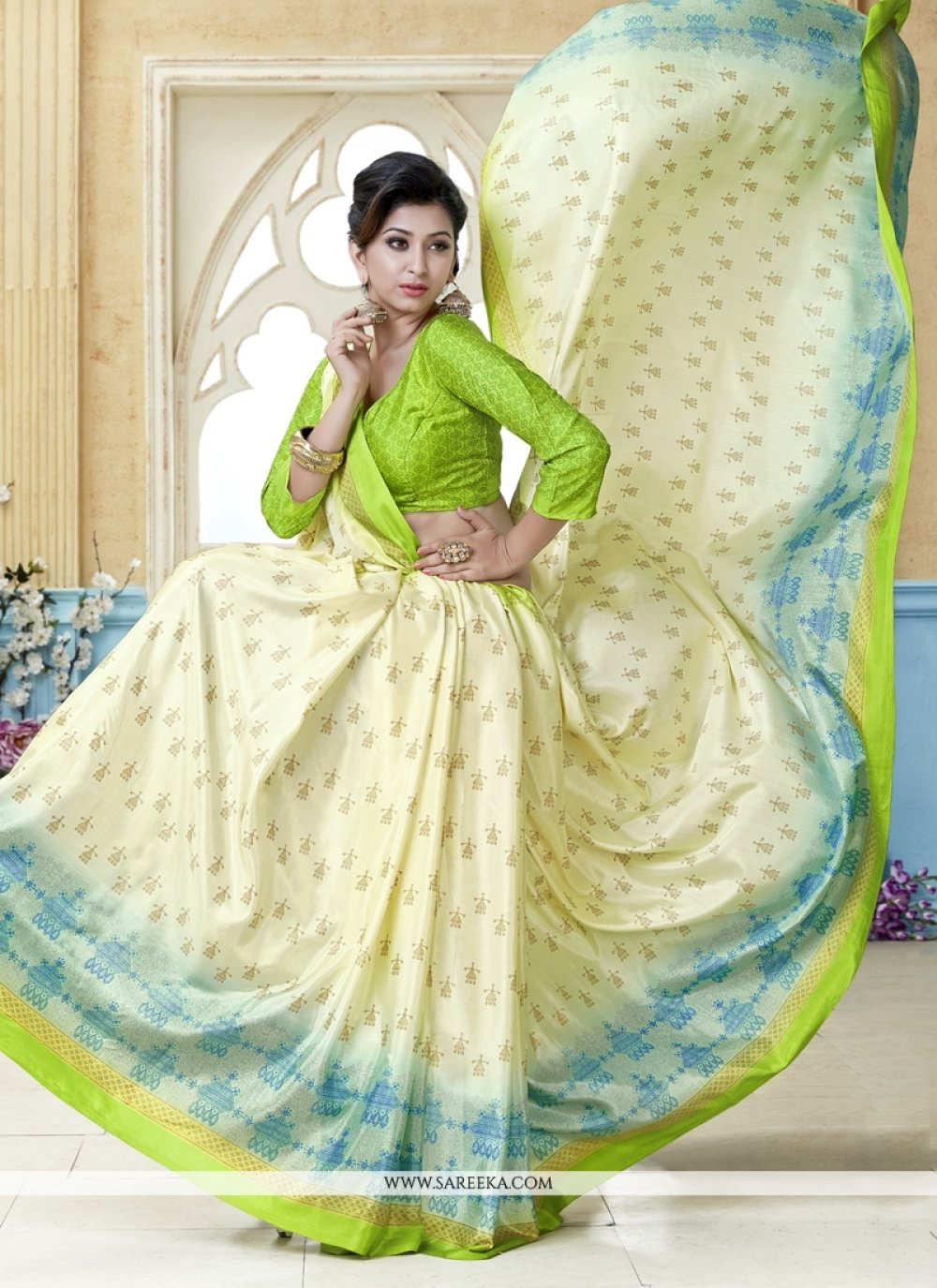 Kanchipuram silk Multi Colour Casual Saree
