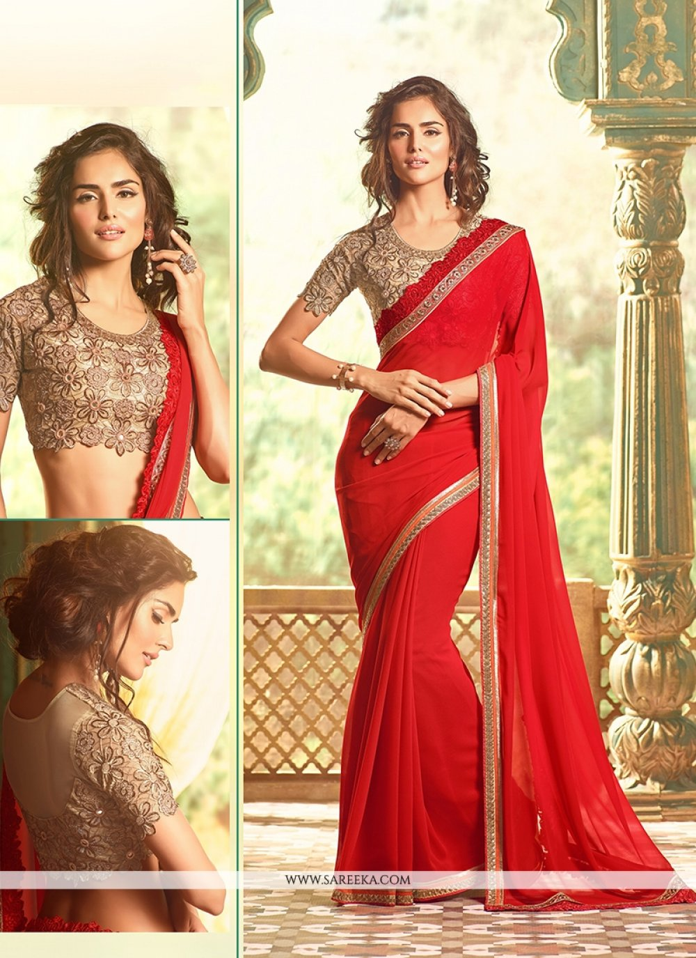 Embroidered Work Traditional Designer Sarees