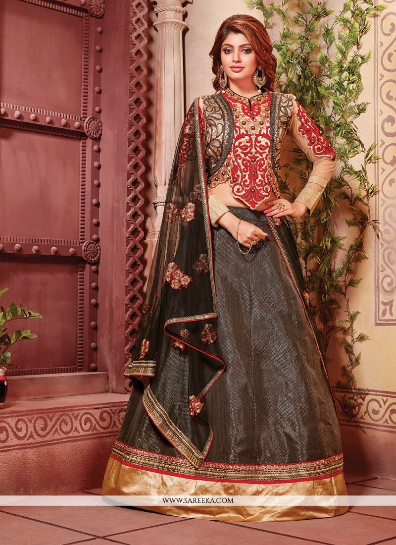 203a0e034c Buy Fancy Fabric Black Designer A Line Lehenga Choli Online : Fiji -