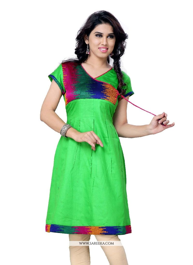 Lace Work Party Wear Kurti