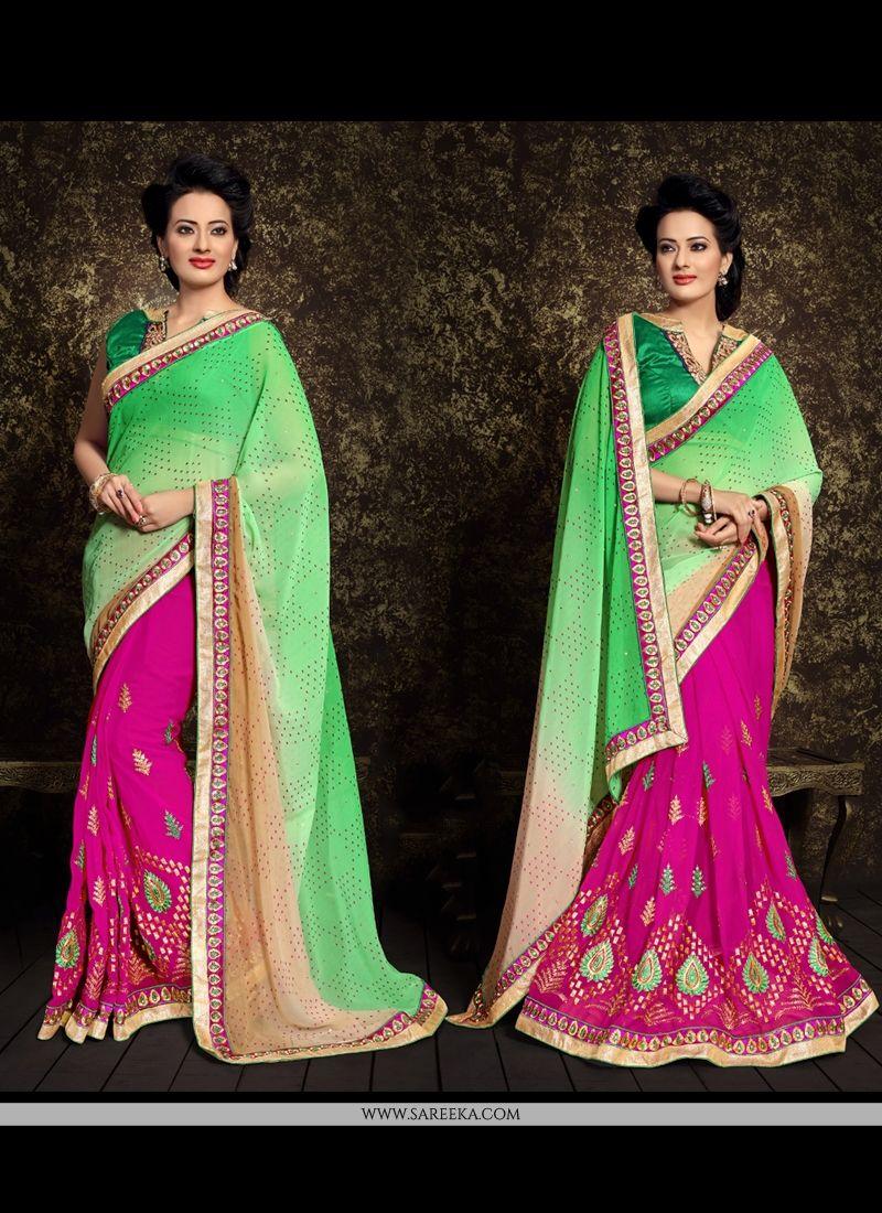 Jacquard Designer Half N Half saree